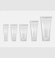 realistic white blank plastic closed vector image vector image