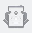 road destination info on smartphone vector image