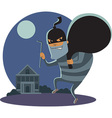Robber at night vector image