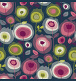 roses in blossom seamless pattern vector image