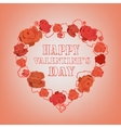 Roses Valentine Background vector image vector image