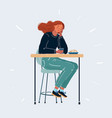 sad woman depressed person vector image vector image