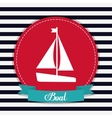sailboat icon Sea lifestyle design vector image vector image