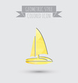 sailing ship symbol icon boat steamer sailboat vector image