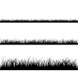 seamless grass silhouette vector image