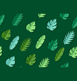 seamless pattern with paper palm leaves vector image vector image