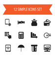 set of 12 editable investment icons includes vector image vector image