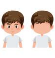 set of boy character vector image vector image