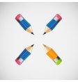 Set of four short pencils design vector image vector image