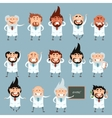 Set of scientists2 vector image vector image
