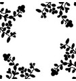 silhouette of cowberry plant vector image