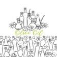 sketch olive oil vector image vector image