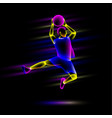 slam basketball player vector image vector image