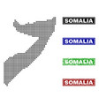 somalia map in dot style with grunge name stamps vector image