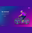 sport athlete cyclists professional road bicycle vector image vector image