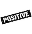 square grunge black positive stamp vector image vector image