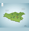 stylized map bolivia isometric 3d green map vector image vector image