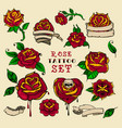 tattoo roses set vector image