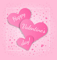tender card with pink hearts for valentines day vector image