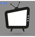TV icon picture Flat Style vector image vector image
