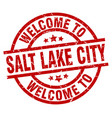 welcome to salt lake city red stamp vector image vector image
