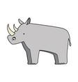 wild rhinoceros isolated icon vector image vector image