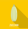 zucchini icon flat style vector image