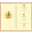 menu brochure vector image