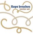 Rope brushes set Realistic design vector image