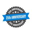 25th anniversary sign anniversary blue-black