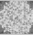 3d abstract geometric white and gray triangle vector image vector image