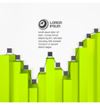 3d business template vector image vector image
