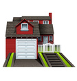 A beautiful concrete house vector image vector image