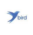 abstract bird logo design vector image vector image