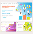 achieving business success people with prize vector image vector image