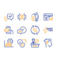 approve quickstart guide and web report icons set vector image vector image