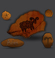 arieszodiac in the form of cave painting vector image vector image