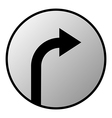 Arrow right button vector image vector image