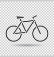 bike icon on isolated background bicycle in flat vector image vector image