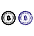 bitcoin danger trends stamp with grungy texture vector image