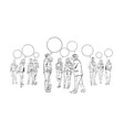 business people communication bubbles chat vector image vector image