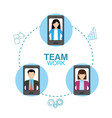 business teamwork concept vector image vector image