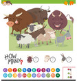 calculating animals game vector image vector image