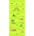 cartoon game map for casual games graphic user vector image