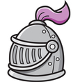 Cartoon knight helmet vector image vector image