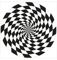 circle abstract chess isolated object vector image vector image