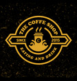 coffee shop logo template retro design style vector image vector image