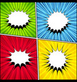 comic backgrounds collection vector image vector image