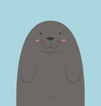 cute big fat monk seal vector image vector image