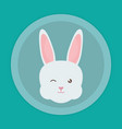 cute rabbit head character vector image